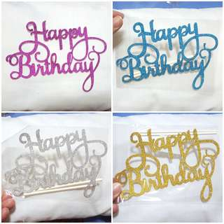 BN Happy Birthday Cake Toppers