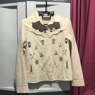 Cream pattern shirt