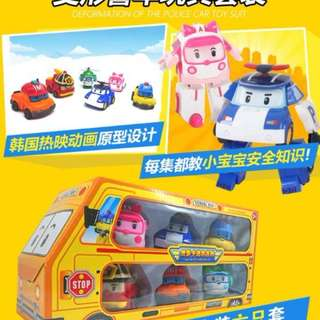 6in1 Robocar Poli Deform Toys