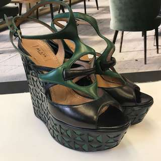 Alaia Leather Wedges