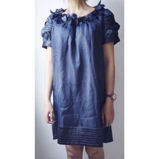 Party navy dress