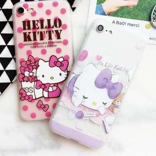 手機殼IPhone6/7/8/plus : HelloKitty吉蒂貓透明