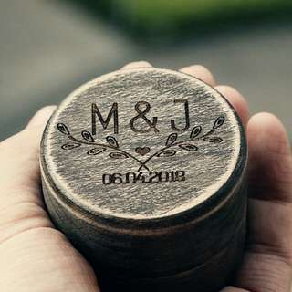 Cool Personalized Wedding Ring Box Rustic Jewelry Box Holder Engagement Gift Ring Bearer Box Handmade DIY Ring Box