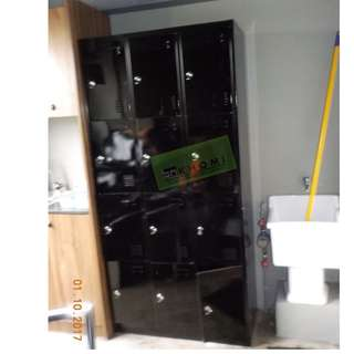 BLACK 12 DOOR LOCKER CABINET--KHOMI