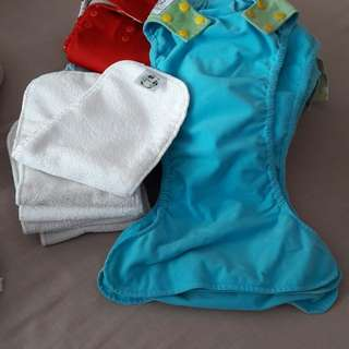Washable clothes diapers