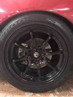 "Deep Concave ce28 16"" black with tyres"