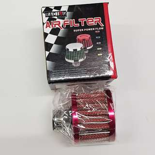 AIR FILTER FOR ENGINE BREATHER HOSE EXTENSION ACCESSORY RED