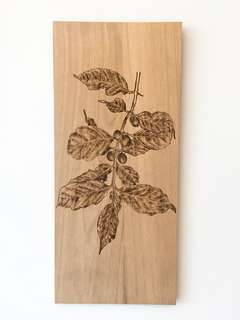 Coffee Blossom- Pyrography Art