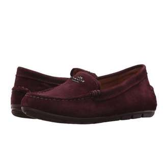 COACH Mary Lock Up Driver | New Oxblood Suede | US Women's Size 5,5.5,6,6.5,7,7.5,8,8.5,9,9.5,10,11 | Loafer Flat Shoe| Original Price US$150