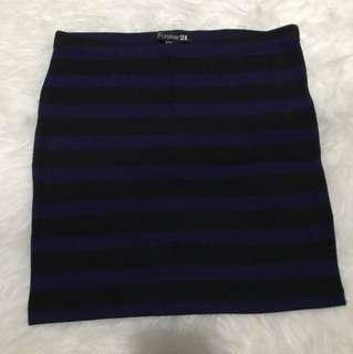 F21 stripe skirt S bisa melar