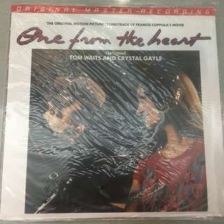 Tom Waits And Crystal Gayle ‎– One From The Heart - The Original Motion Picture Soundtrack Of Francis Coppola's Movie, Brand New Vinyl LP,  Limited Edition No. 01515, Mobile Fidelity Sound Lab ‎– MFSL 1-448, 2016, USA