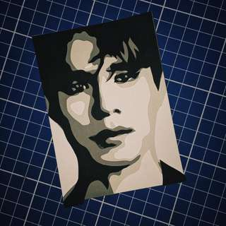 Lee Dong Wook Layered Papercut Portrait