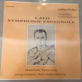 Lalo, Henryk Szeryng, Chicago Symphony Orchestra, Walter Hendl – Symphonie Espagnole, Vinyl LP, Classic Records – LSC 2456, 1994, USA