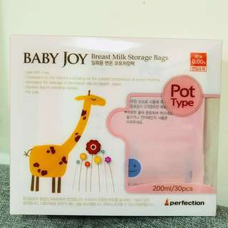 Baby Joy Breast Milk Storage Bag 200ml 30pcs