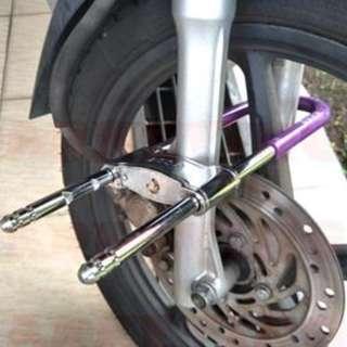 Motorcycle Fork U Lock Front Back Secure Bike PORTABLE
