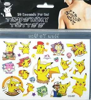 Pokemon Temporary Tattoo