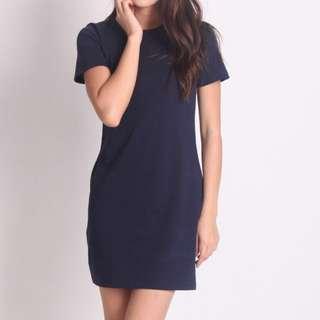 Navy Tee Dress