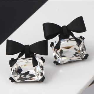 Korean style classic bow earrings