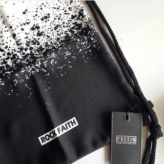 Rock Faith Black White Sackbag