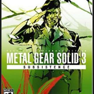 PS2 DVD METAL GEAR SOLID 3 ONLINE SINGLE PLAYER GAME (2 DISC)