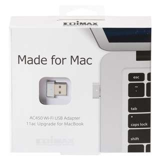 Edimax 11AC WiFi USB Adapter for MacBook, Nano Size to Plug it & Forget it, Upgrade for Faster Performance, Support Mac OS 10.7~10.11 (5GHz Band Only) EW-7711MAC