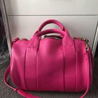 ALEXANDER WANG Hot Pink Flamingo Rocco Bag