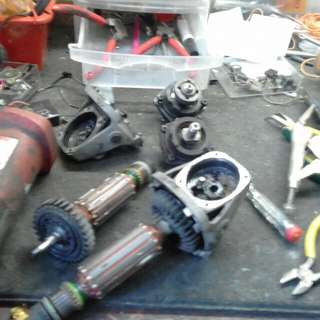 Repairs and services power tools
