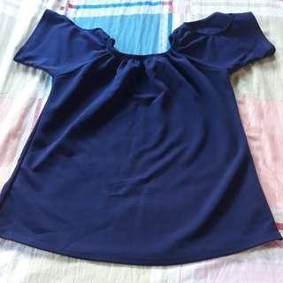 Navy blue Blouse w/ arm hole design
