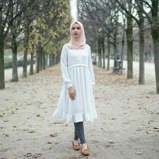 Andara Mutiara Tunik White