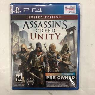 PS4 Preowned Assassin's Creed Unity