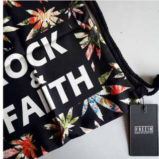 Rock Faith Flower Sackbag