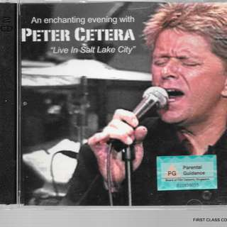 MY PRELOVED CD - PETER CETERA - 2 CDS - LIVEIN SALT LAKE CITY// FREE DELIVERY (F3R)