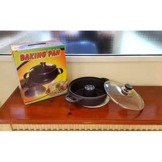 Baking Pan Cetakan Kue Bolu Tanpa Oven Bahan Alumunum Tebal Lapis Teflon