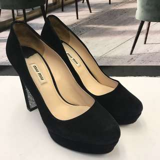 Miu Miu Seude Leather High Heel