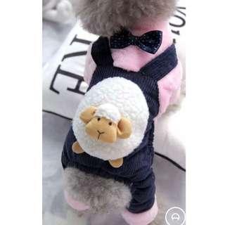 🚚 全新未穿過寵物冬天保暖羊咩咩粉色衣