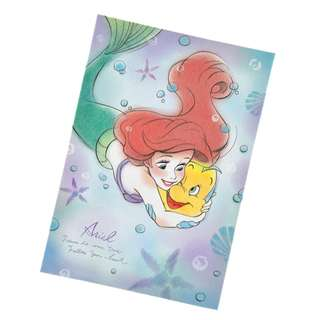 Japan Disneystore Disney Store Ariel the Little Mermaid & Flounder Stamp Note
