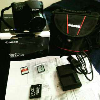 Cannon Powershot SX430 IS w/ free Cam Bag and extra 32gb sd