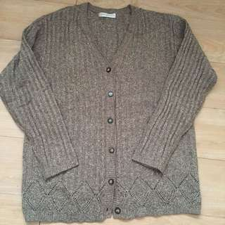 Wool knitted cardigan jacket