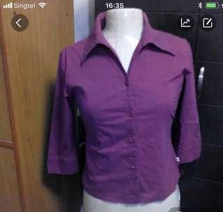 TOP elastic purple shirt