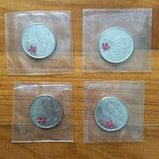 Canadian coloured coins (4 pcs)