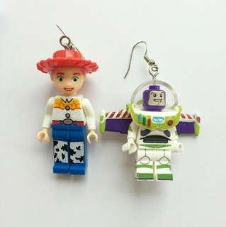 Toy Story Lego earrings