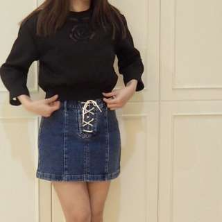 [HONGKONG BRAND] CROP SWEATER