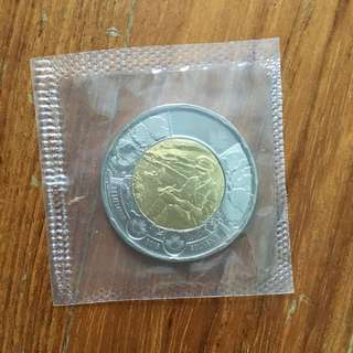 Canadian $2 bimetallic coin