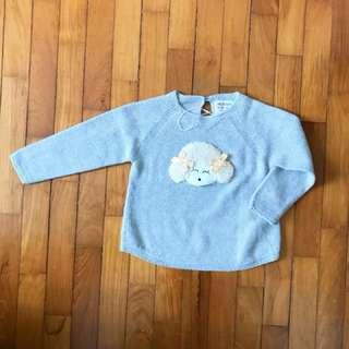 New Baby Girl Zara Sheep Sweater 12 -18 months