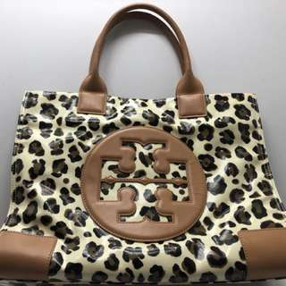 Authentic leopard print Tory Burch big bag