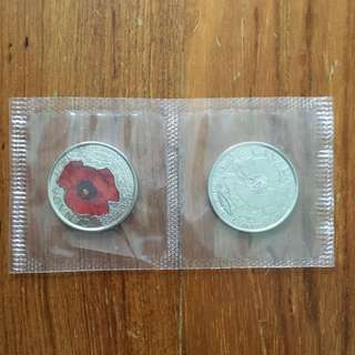 Canadian flower coin set