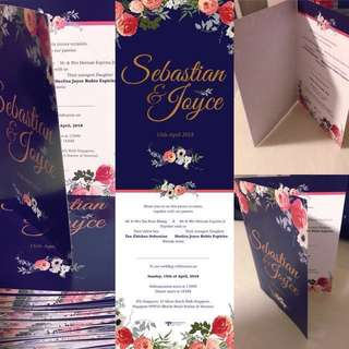 Folded Wedding Card