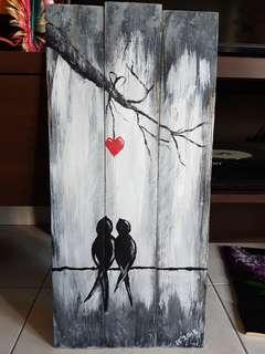 Acrylic on Wood - Birds