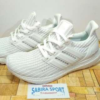 Sepatu Adidas Ultraboost 4.0 Fullwhite.