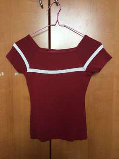 Preloved Red Off Shoulder Top